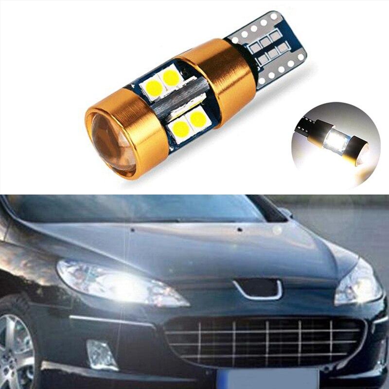1x T10 W5W 168 194 SMD Error aparcamiento gratuito bombillas de luz de las luces para Peugeot 307, 206, 301, 207, 2008, 508, 301, 3008, 406, 507, 208