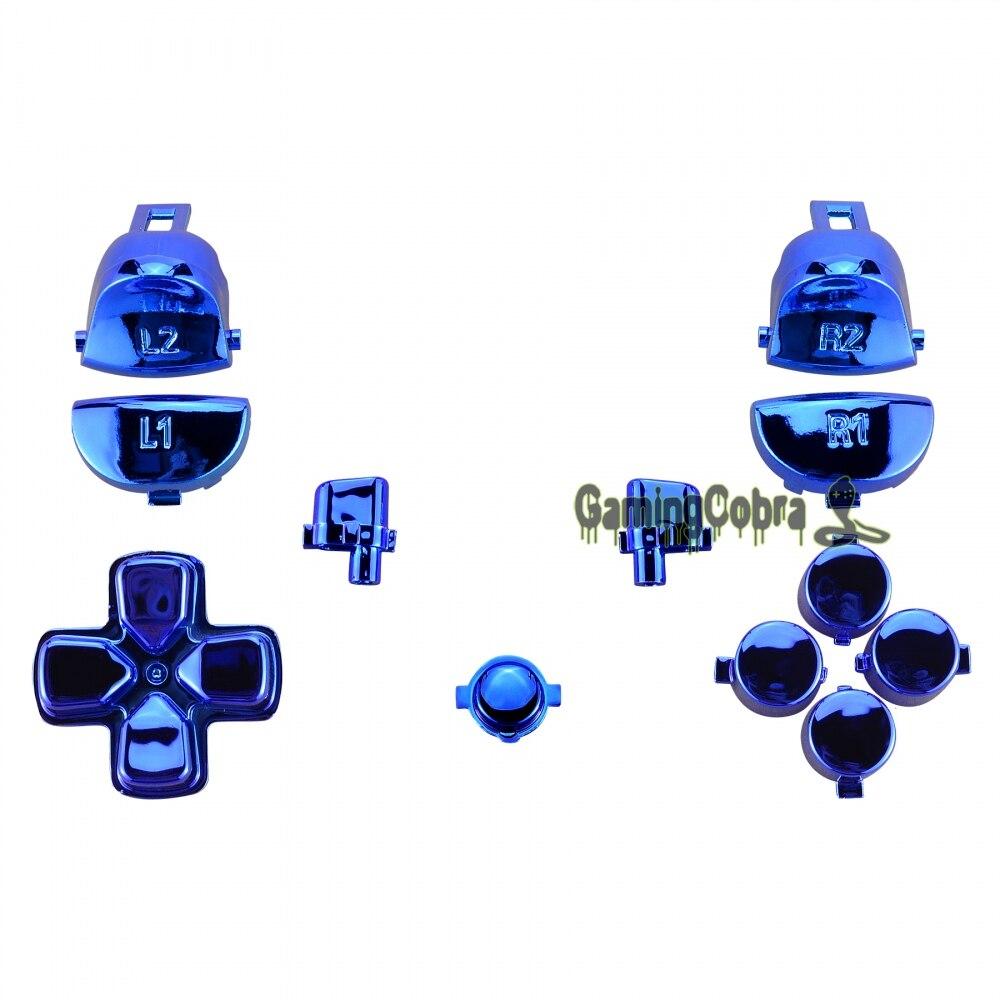 Экстремальный глянцевый синий полный набор кнопок для PS4 Pro тонкий контроллер CUH-ZCT2 JDM-040 JDM-050