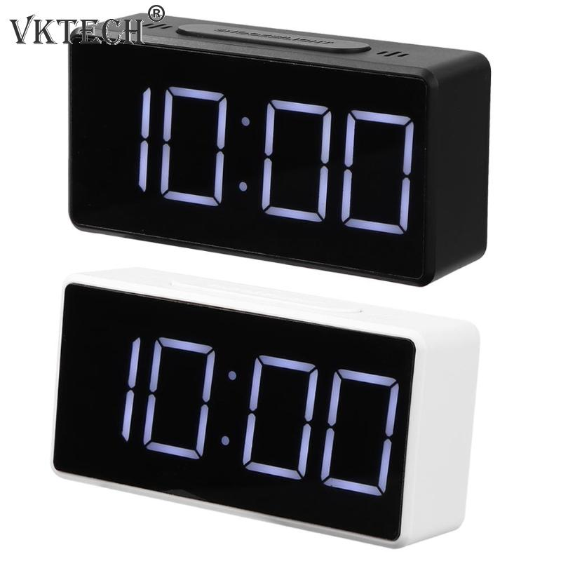 LED Digital Alarm Clock with USB Port Snooze Table Clock Electronic Clock Thermometer Temperature Meter Office Home Decor