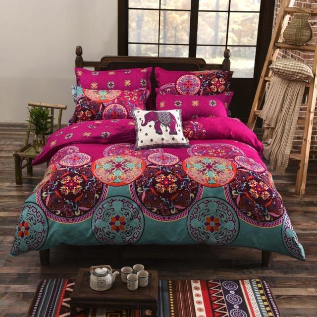 Bohemian Oriental Mandala Bedding Quilt Duvet Cover Set 3pcs bedding set