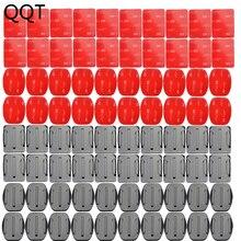 QQT für Gopro Montieren Zubehör 40 stücke Gebogene Platte Montage 108 stücke klebstoff für GoPro Hero 5 4 3 für xiaomi für SJCAM