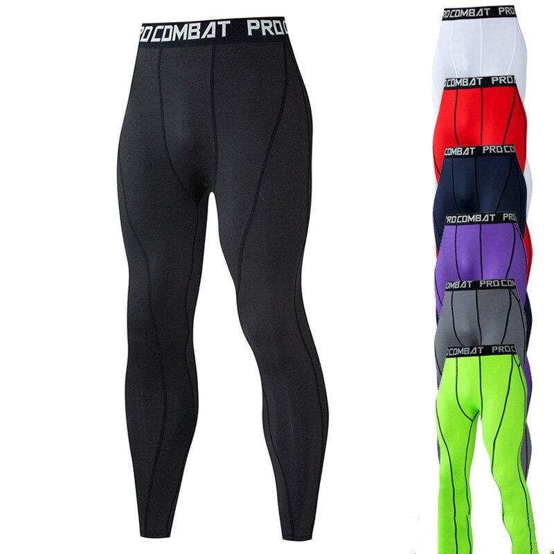 Pantalones de compresión para correr, ropa deportiva para hombre, pantalones largos Fitnness para hombre, Leggings de secado rápido ajustados informales para montar en bicicleta 3XL