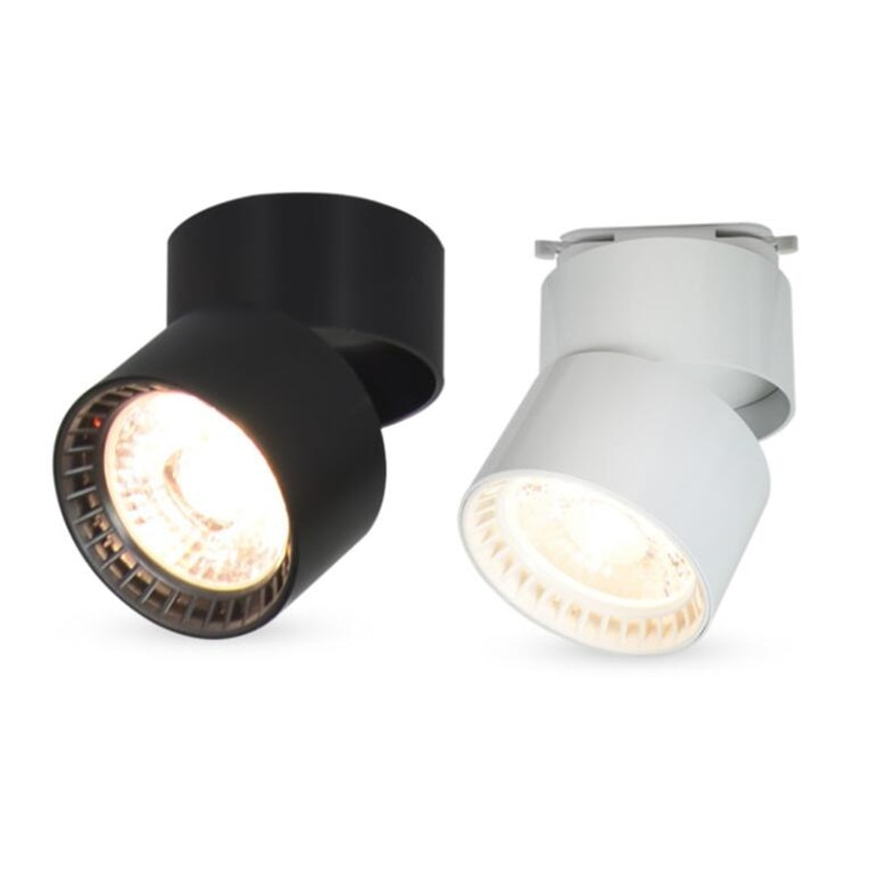 COB LED Downlights Dimmable 15W Surface Mounted LED Ceiling Lamps Spot Light 360 Degree Rotation LED Track lights AC85-265V cob led downlights 7w 10w 12w 15w surface mounted dimmable led ceiling lamps spot light square cob led downlights ac85 265v