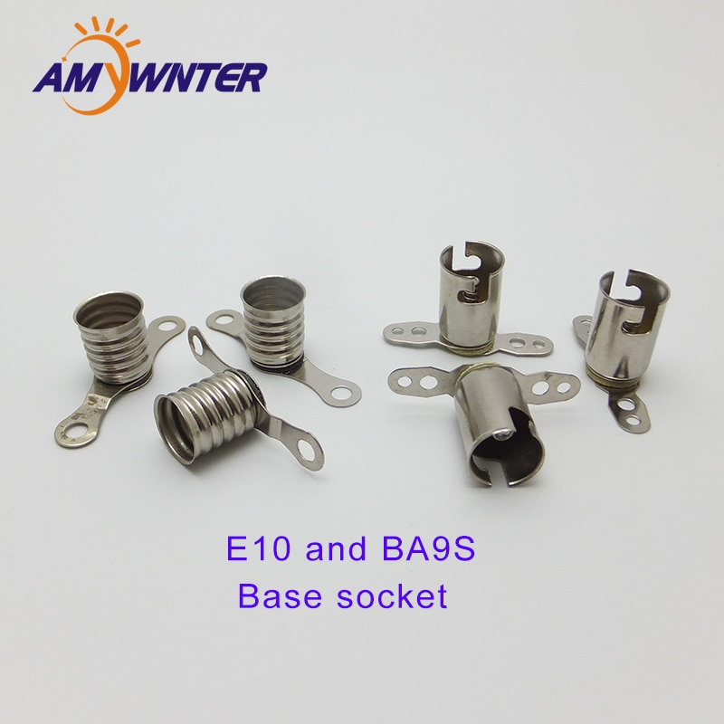 Amywnter E10 Lampholder Long Leg LED Bulbs Light T4w Base Socket for circuit electrical test accessories 50PCS