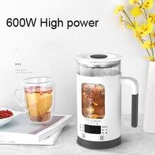 600ML Mini çok fonksiyonlu elektrikli su ısıtıcısı sağlık koruma Pot cam haşlanmış demlik sıcak su şişesi termal su ısıtıcısı 220V