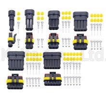 Connecteur de fil électrique étanche   1P 2P 3P 4P 5P 6 broches, Way AMP 1.5 Super étanchéité, connecteur de fil électrique pour automobile, moto, 10 jeux