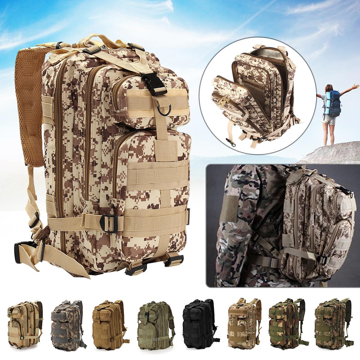 Mochila táctica militar mochila ajustable viaje Camping senderismo camuflaje bolsa para deportes al aire libre militar ejército mochila