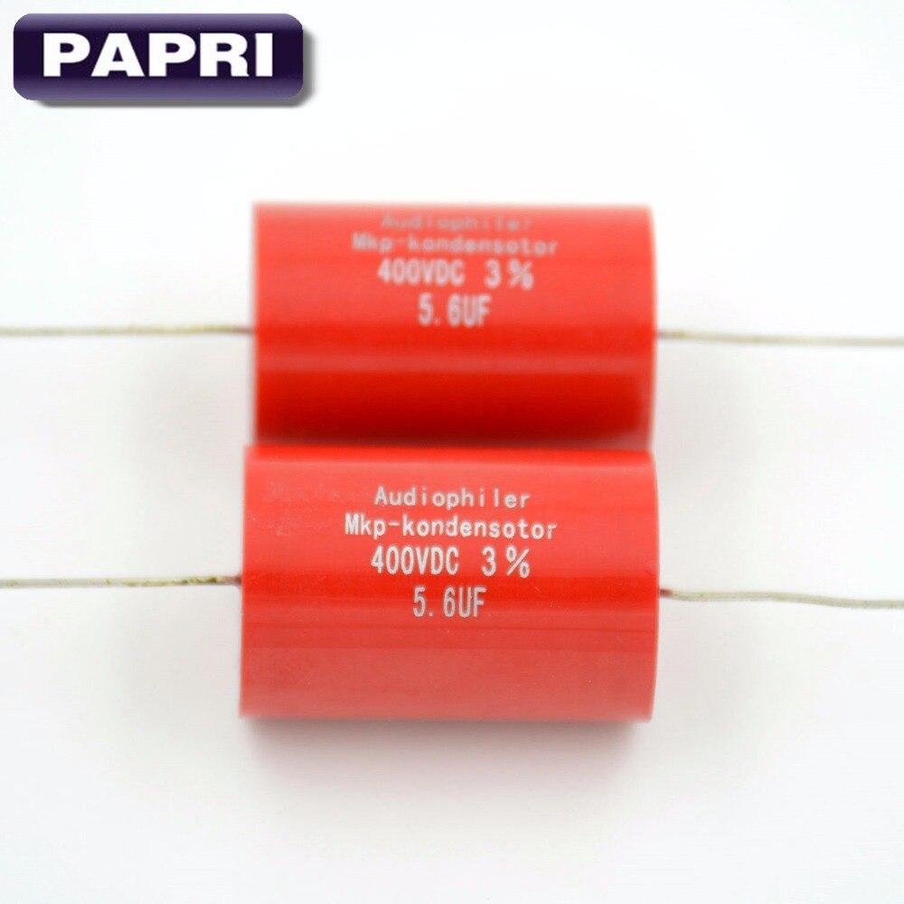 PAPRI 400VDC 5,6 UF condensador Axial de polipropileno metalizado Audio HIFI DIY tubo amplificador Lote/10 Uds