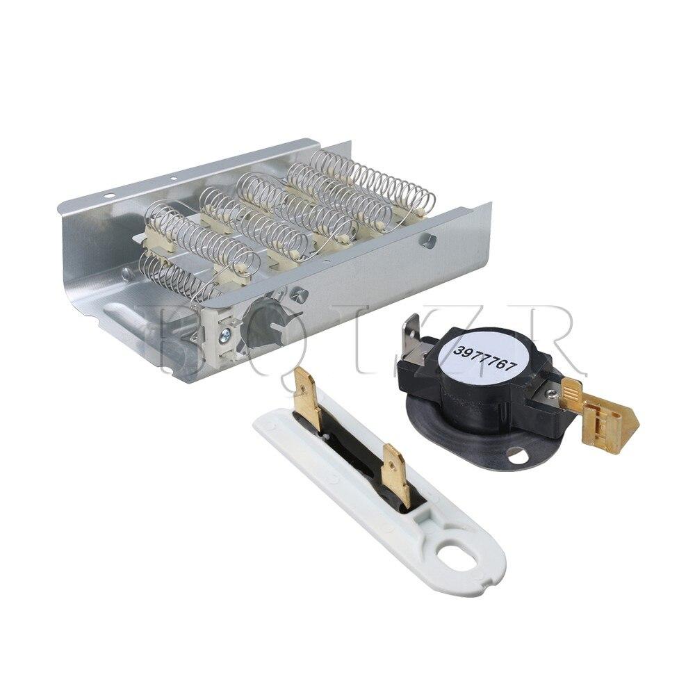 BQLZR 279838 Trockner Wärme Element + WP3977767 Thermostat + WP3392519 Thermische Sicherungen Trockner Kit Ersetzen ps345113 3403585 ap3132867
