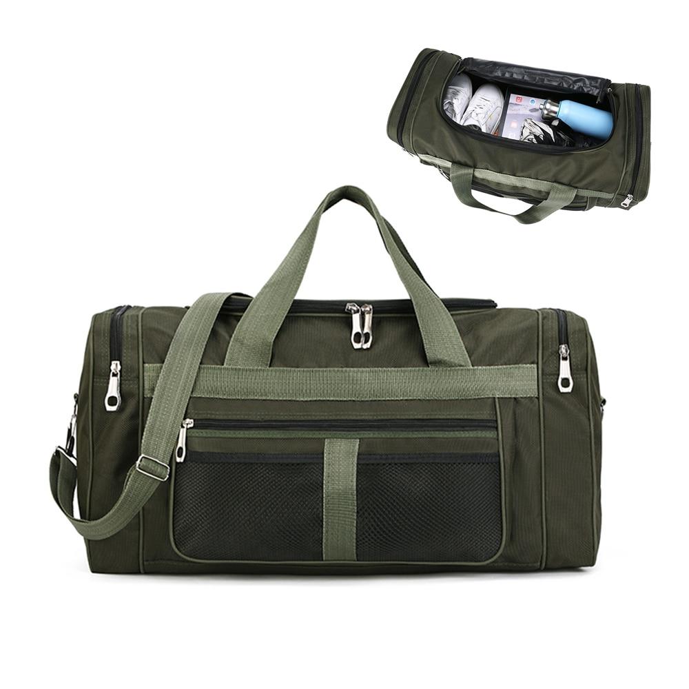 Bolsa de lona grande de viaje 11x11,5x22 pulgadas con 55L de capacidad de viaje de poliéster bolsas de lona bolsa plegable sola correa de hombro