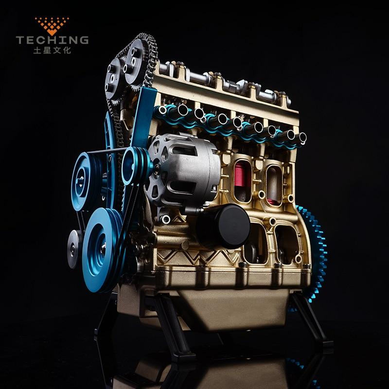مجموعات بناء نموذج محرك البنزين, تأتي مع أربع أسطوانات كاملة لدراسة الصناعة البحثية/ألعاب/هدية