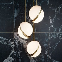 LukLoy NordicPost-modern Minimalist Bedside Bedroom Spherical Acrylic Single Head pendant light for Bedroom Bar Kitchen Island