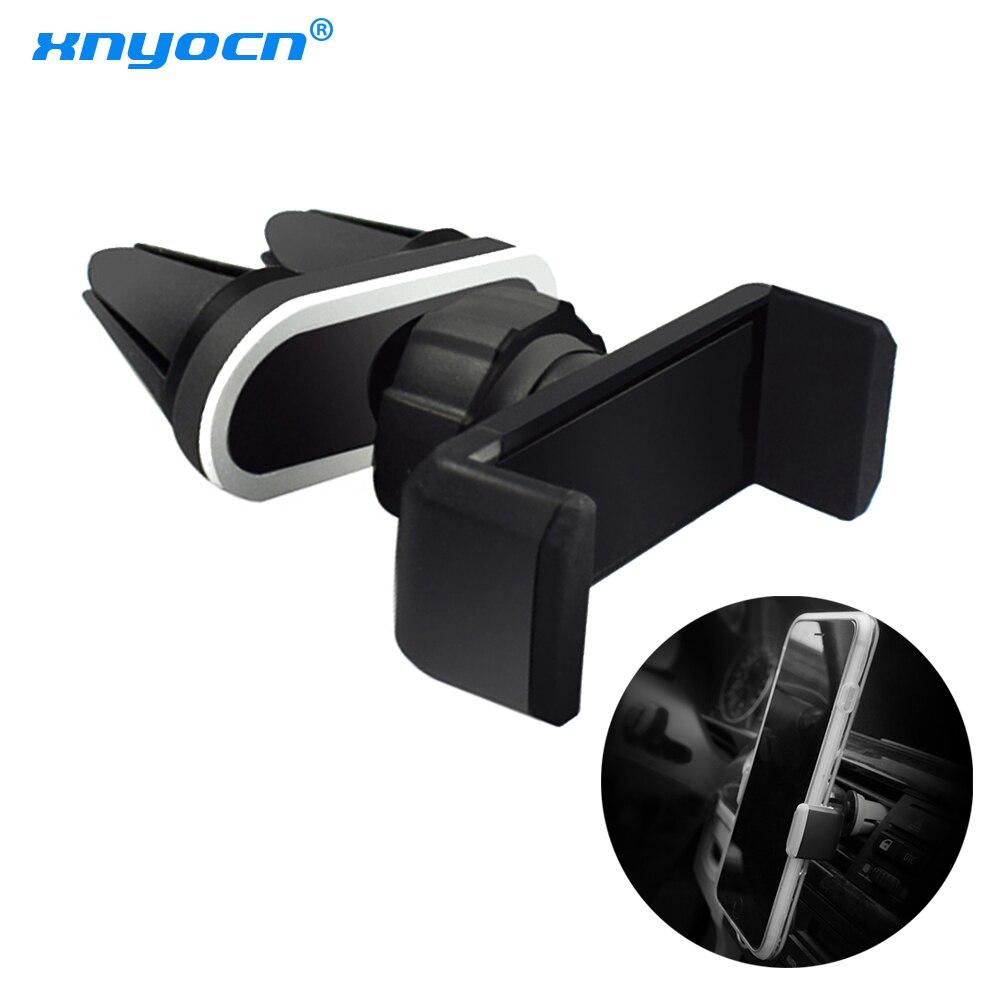 Universal carro de ventilação ar dupla montagem clipe titular smartphone suporte suporte berço para iphone samsung lg xiaomi huawei telefones celulares