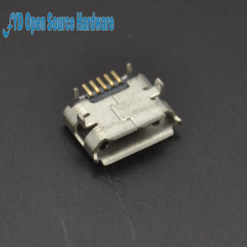(DIP) Tomada MicroUSB Cobre MK5P Microfone 5P MINIUSB Micro 5PIN 10 PÇS/LOTE