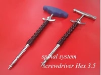 orthopedics instrument spinal system use stainless seel hex 3 5 screwdriver universal screwdriver