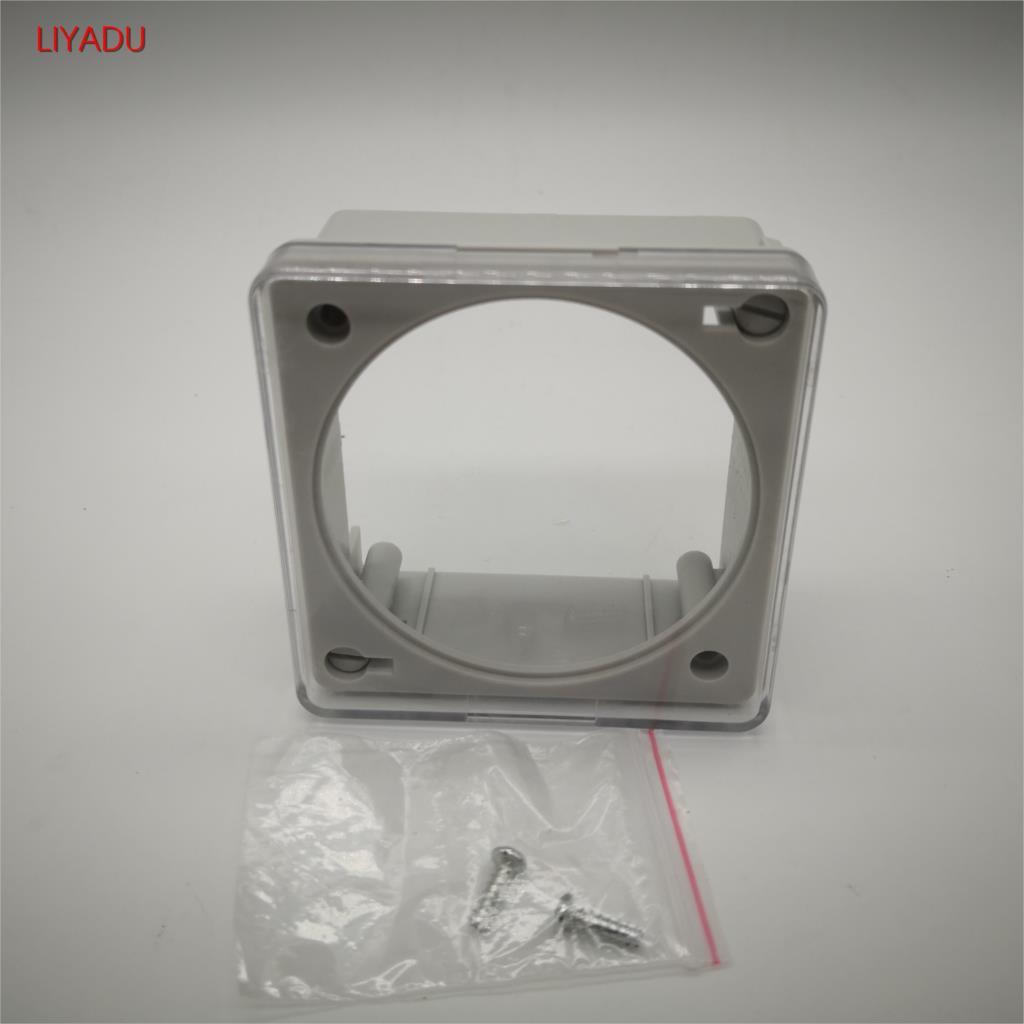 Relé de tiempo programable CN101A/102A cubierta de plástico impermeable LCD Digital protección del interruptor del temporizador de alimentación L701 L702