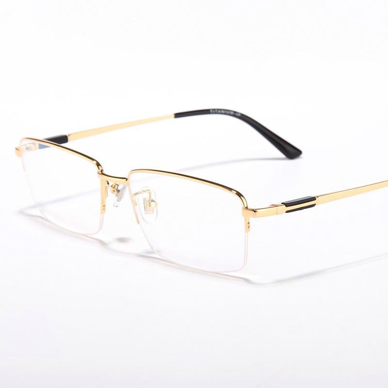 Viodream التيتانيوم النقي الأعمال سوبر ضوء نصف إطار نظارات العين البصرية نظارات إطارات للرجال Oculos De Grau