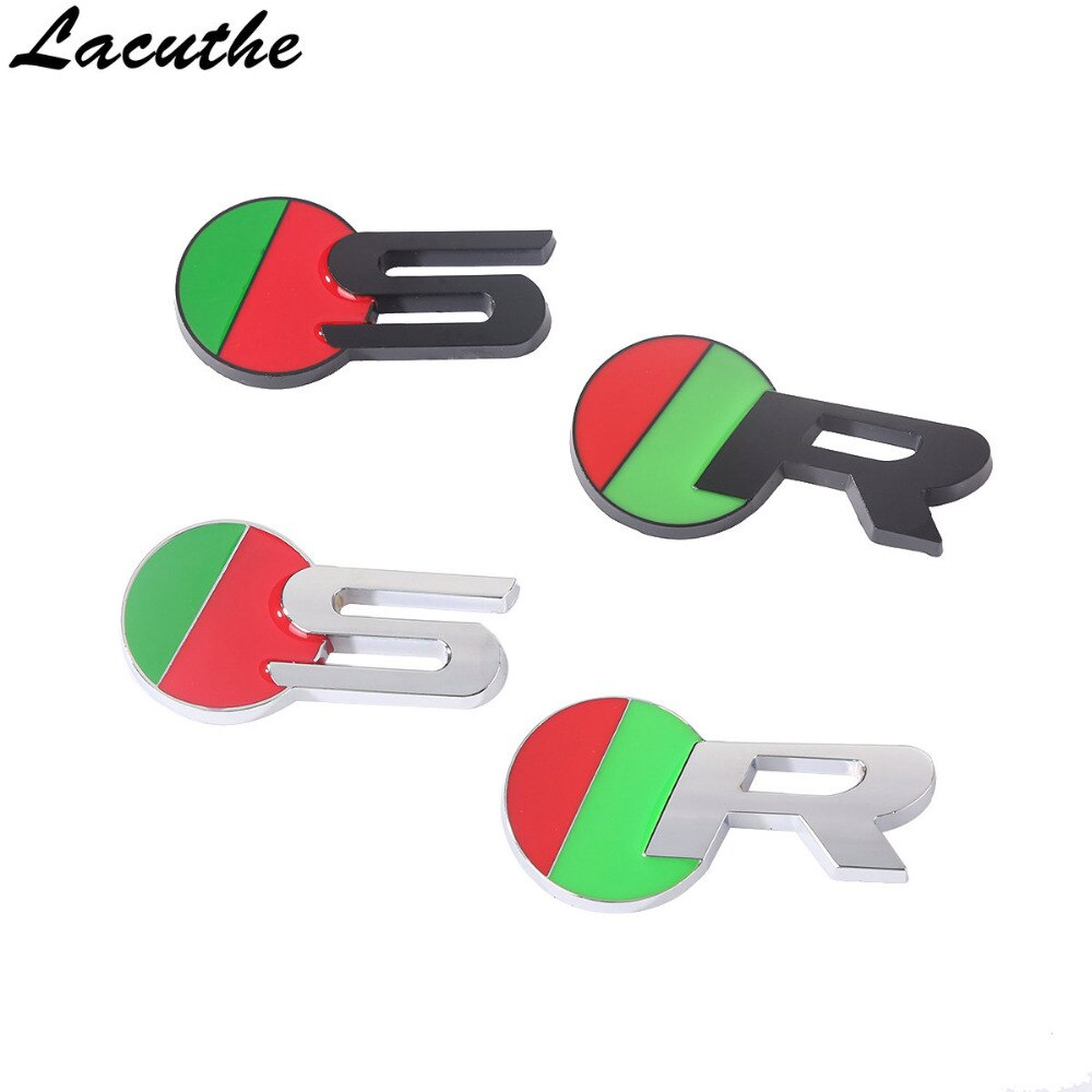 Pegatina para coche R S 3D, pegatina de Metal cromada para coche, accesorios para Jaguar XJ XF XK X-TYPE