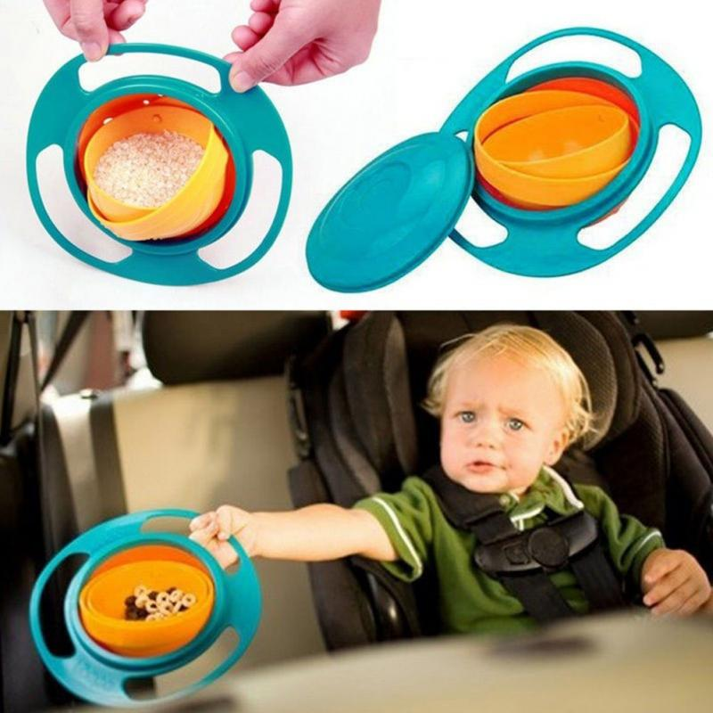 New Arrival High Quality Children Kid Baby Toy Universal 360 Rotate Spill-Proof Bowl Dishes