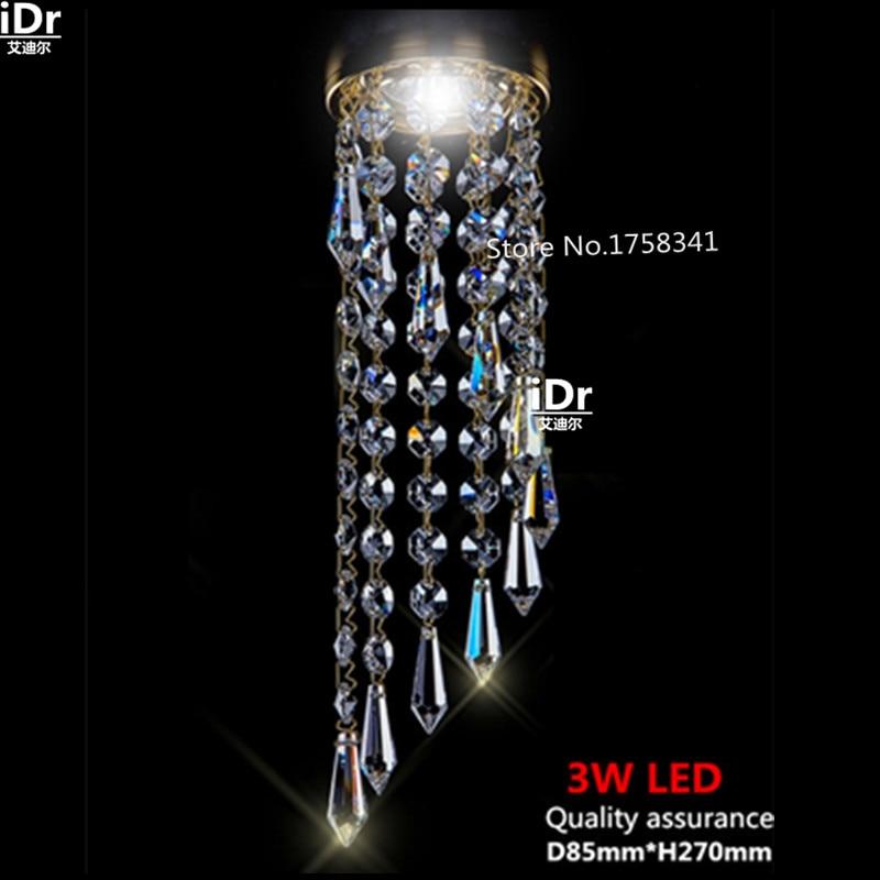 مصباح سقف كريستالي K9 LED ، D85mm ، إضاءة داخلية ، إضاءة سقف زخرفية ، مثالية لغرفة المعيشة ، الممر ، المطبخ ، الحمام ، غرفة النوم ، الدراسة أو الشرف...