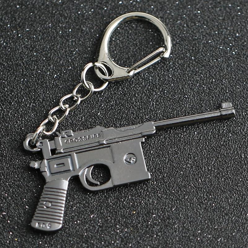 CS GO CSGO CF брелок для ключей, военный пистолет C96, пистолет, счетчик ударов, игра, перекрестный огонь брелок для ключей, кольцо для ключей, оптов...