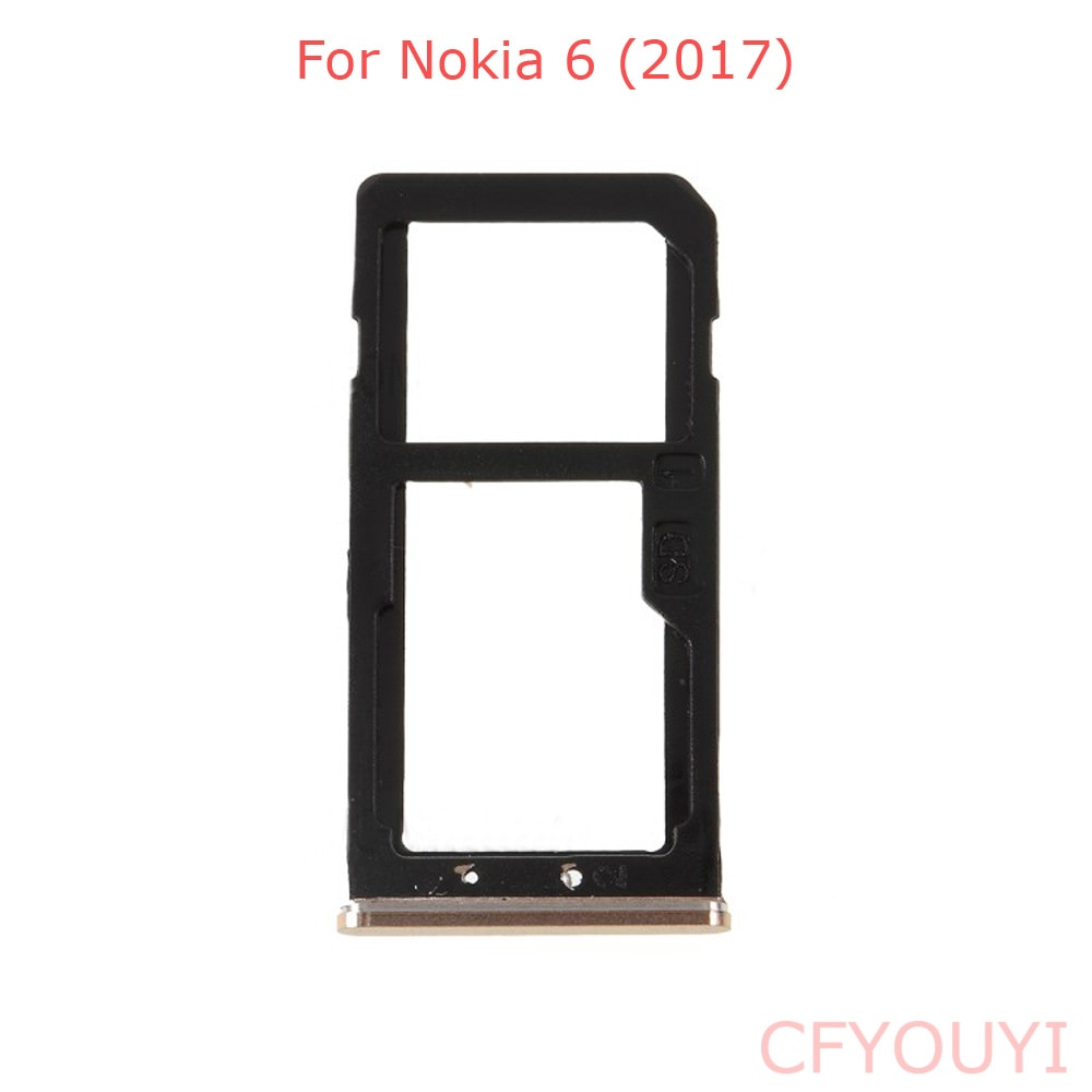New Dual SIM Card Tray Holder Slot Replacement Part For Nokia 6 2017