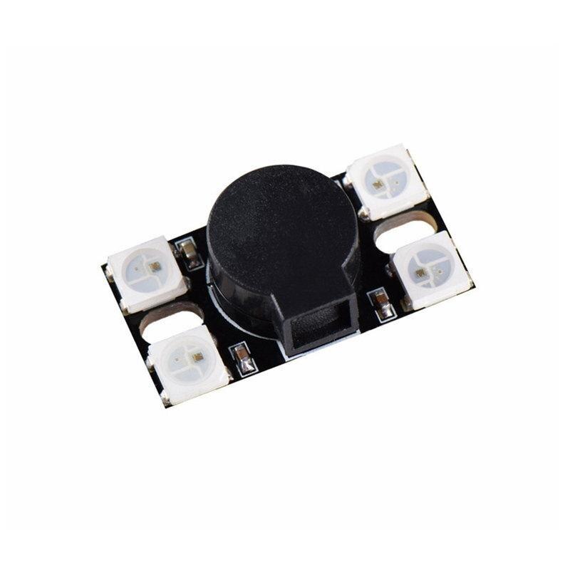 Estrela PRINCIPAL 110DB Super Loud Buzzer ativo COM WS2812 DIODO emissor De luz Para Os MODELOS Rc MULTICOPTER Diy Acessórios parte