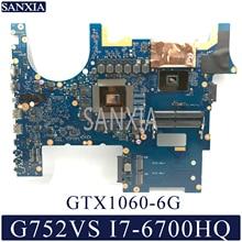 KEFU carte mère dordinateur portable pour ASUS ROG G752VS carte mère dorigine CM236 I7-6700HQ GTX1060-6G