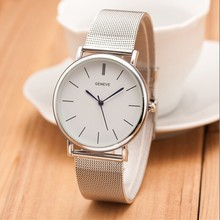2021 New Famous Brand Silver Casual Geneva Quartz Watch Women Metal Mesh Stainless Steel Dress Watch