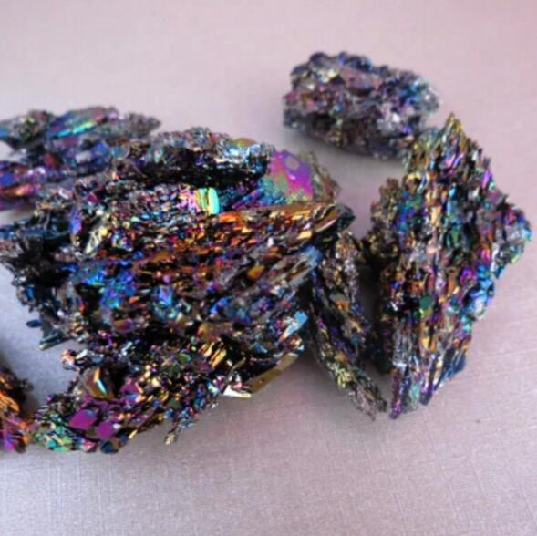 Natural colorido exquisito Pavo Real mineral nunatak drupelets100g/lote envío gratis