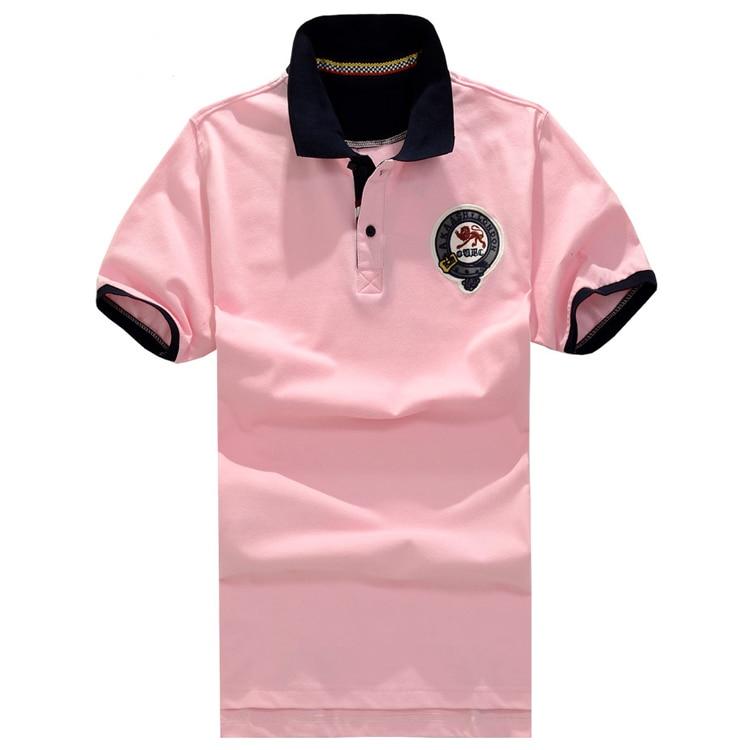 Rosa XL envío gratis verano hombres talla grande 8XL Camiseta de algodón Camisetas cuello vuelto Casual de los hombres rosa camiseta manga corta 155 cm