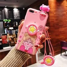 3D мультфильм Сейлор Мун розовый Силиконовый чехол для Huawei P20 Lite P30 Mate 20 Pro Nova 3 3i Honor 8X 7X 10 мягкий ТПУ ремешок чехол