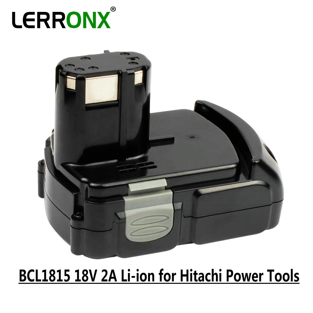 18V 2A Li-ion rechargeable replacement cordless power tools battery for Hitachi BCL1815 BCL1830 EBM1830 DS18DL DS18DFL batteries