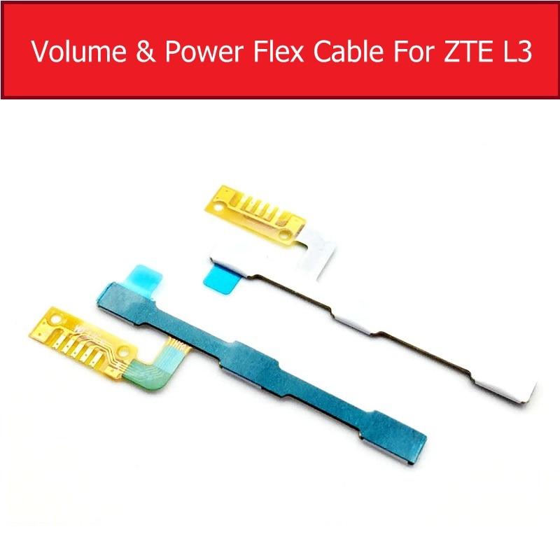 Orijinal ses seviyesi ve güç Flex kablo için ZTE Blade L3 güç anahtarı ve ses seviyesi düğmesi şerit kablo yedek onarım parçaları