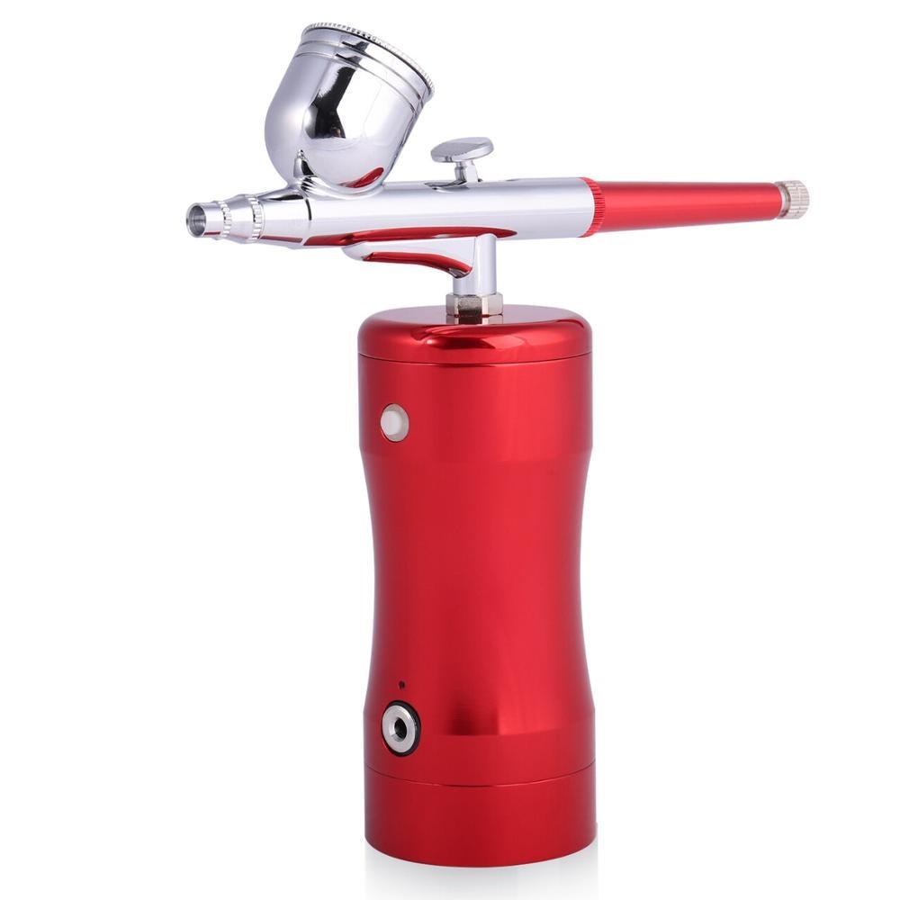 Mini Airbrush Paint Sprayer Small Spray Gun Pump Pen Set Air Compressor Kit for Art Body Painting Tattoo Cake Model Making
