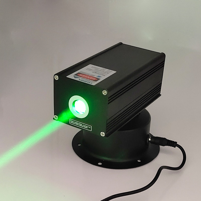 Oxlass 532nm 200 mW 12 V cabeza de alta potencia móvil verde láser gran haz DJ láser etapa luz módulo láser láser pájaro repelente