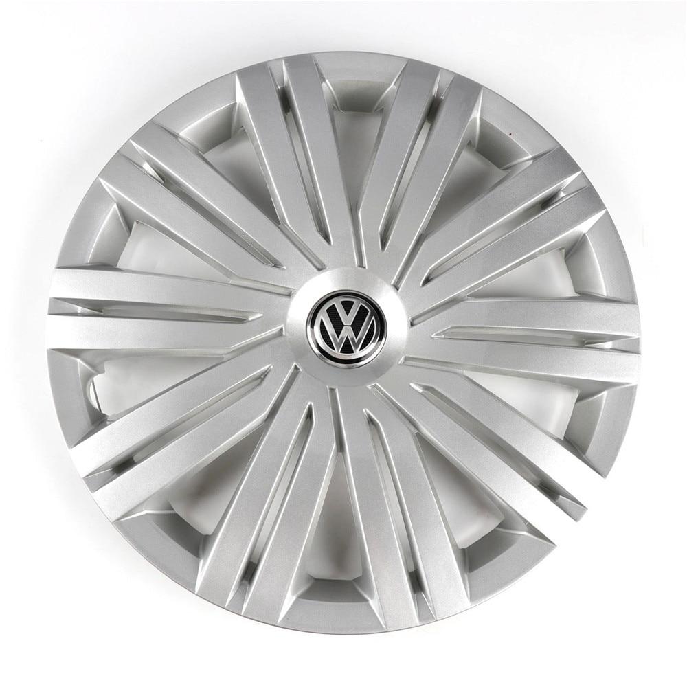 OEM Chrome 415mm 41.5cm Wheel Center Cap Hub Cover Logo Emblem Replacement For VW Volkswagen Polo 2017 6RD 601 147 H
