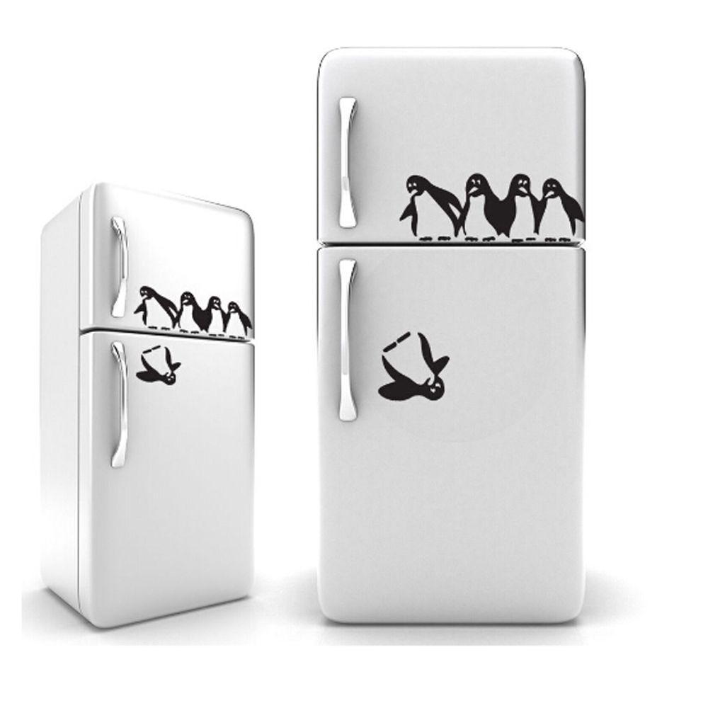 1PC Lustige Pinguin Küche Kühlschrank Aufkleber DIY Decals Esszimmer Küche Dekorative Wand Aufkleber Hause