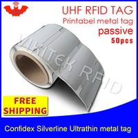 UHF RFID ultrathin אנטי מתכת תג confidex silverline 915 m 868 m Impinj M4QT 50 pcs משלוח חינם להדפסה חיות מחמד פסיבי RFID תגים