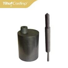 VCM yihui casting Hohe reinem Graphit casting tiegel und stopper für Galloni VCM maschine, aus reinem graphit