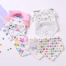 Baby Bibs Cotton Newborn Boys Girls Baberos Triangle Bib Burp Cloth Infant Babe Feeding Scarf Baby Eating Accessories Soft Stuff