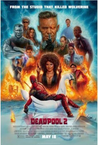 Дэдпул 2-один лист фильм Шелковый постер декоративная стена краска 24x36inch
