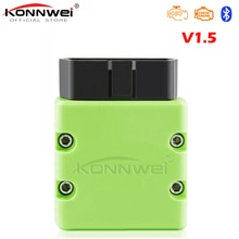KONNWEI OBD2 Scanner KW902 ELM327 V1.5 Bluetooth MINI ELM 327 OBDII KW902 Autoscanner PIC18f25k80 Code Reader for Android Phone