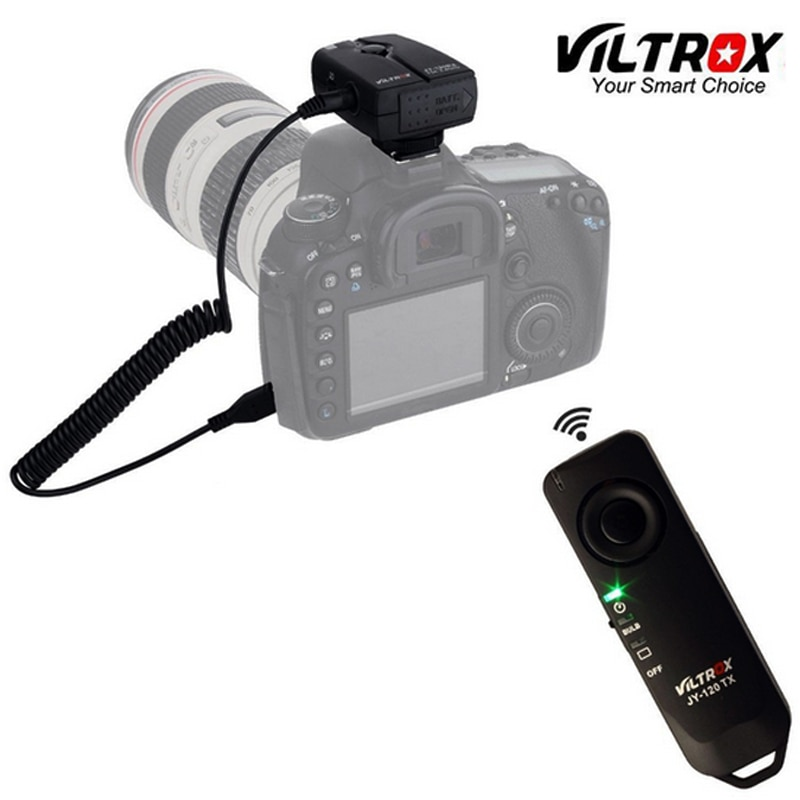 Viltrox JY-120 N3 control remoto inalámbrico obturador para cámara de DSLR de Nikon D90 D5100 D5200 D5300 D3100 D3300 D7000 D7100 D7200 N3