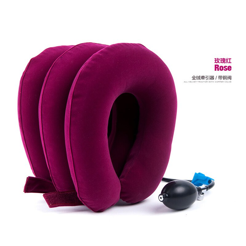 Inflatable Air Cervical Neck Traction Neck Support Soft Brace Device Unit for Headache Head Back Shoulder Neck Pain