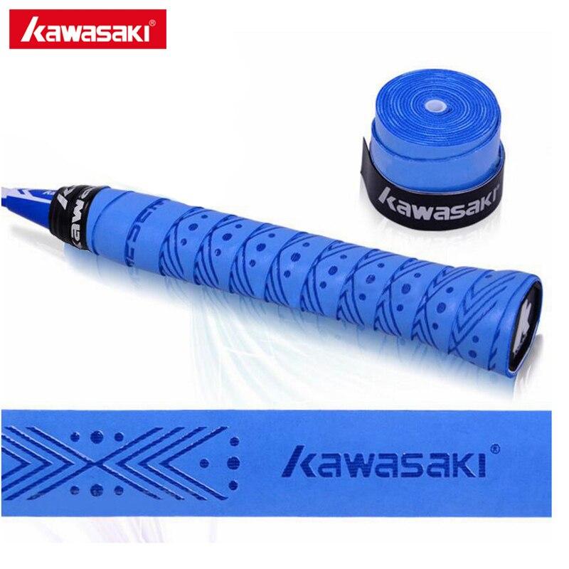 5 unids/lote marca Kawasaki muñequeras antideslizantes transpirables para tenis Overgrips Cinta de agarre de bádminton X5