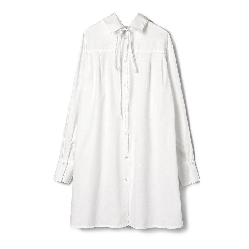 قميص مزاج نسائي جديد لربيع وصيف 2019 ، فستان نسائي ، ظهر بجانبين ، فستان طويل