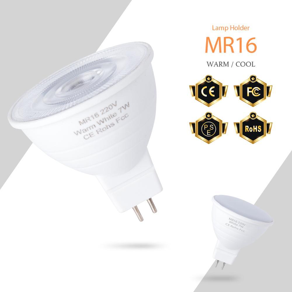 Светодиодная точечная лампа GU10 MR16 220 В светодиодная лампа 7 Вт Ampoule gu 10 точечная Светодиодная лампа 5 Вт Bombillas GU5.3 кукурузная лампа для дома ...