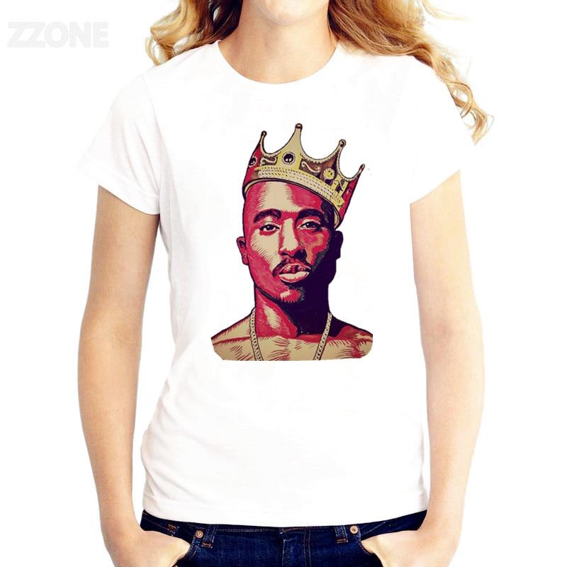 Camiseta 2PAC Thug Life para mujer, Camiseta estampada de buena calidad, camisetas de manga corta, camisetas de cuello redondo de moda, HWP287