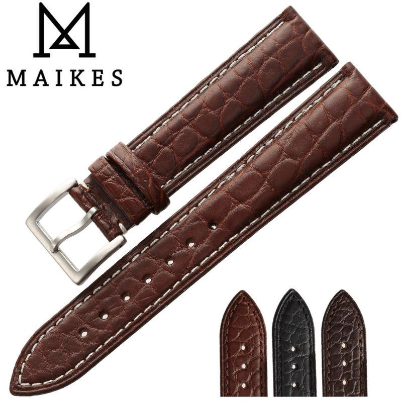 Relógio de Banda para Iwc Pulseiras de Relógio de Qualidade Couro de Crocodilo Case Maikes Jacaré Luxo Chopard Longines Assista Bracelete Superior Genuíno